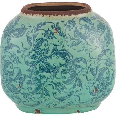 Vasija cerámica Borde 22,5 cm celeste