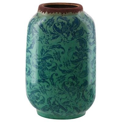 Vasija cerámica Borde 32,5 cm celeste