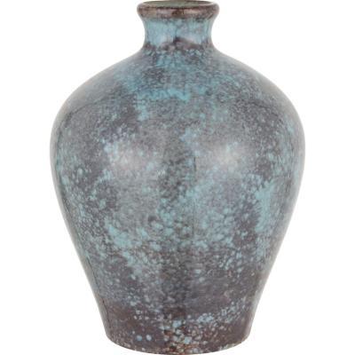 Vasija cerámica 26 cm azul-gris