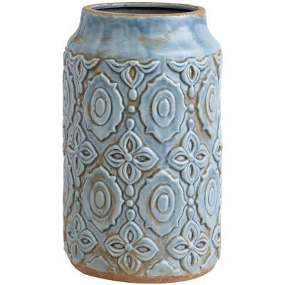 Vasija cerámica diseño 29 cm azul