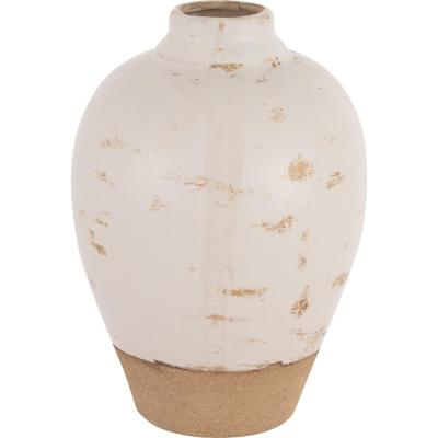 Vasija cerámica Tone 23 cm Blanca