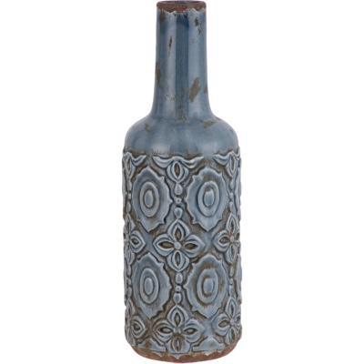 Vasija cerámica diseño 38,5 cm azul