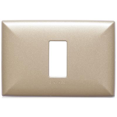 Placa simple  S17 bronce