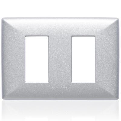 Placa doble  S22 plata
