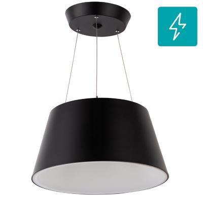 Lámpara de colgar Plástico Aswan Negro