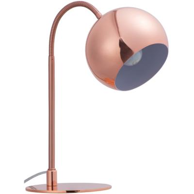 Lámpara de mesa Amadora 1 l E27 cobre