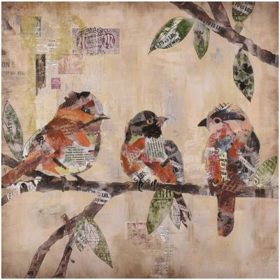Canvas/Gel 60x60 cm Pajaros 1