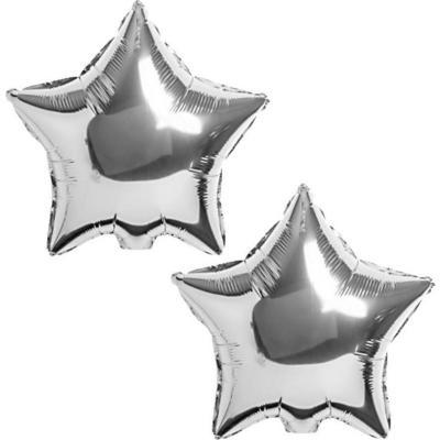 Pack globo  estrella plateada 2 uninades