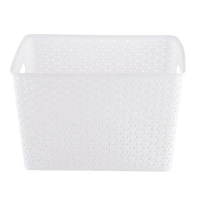Canasta ratán 35x30x22 cm Blanca