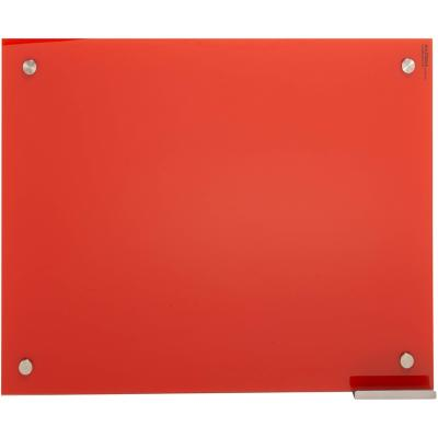 Pizarra de vidrio muro roja 50x70cm