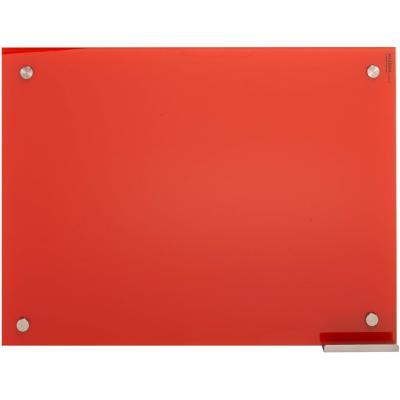 Pizarra de vidrio muro roja 60x80cm