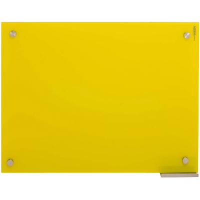 Pizarra de vidrio muro amarilla 60x80cm