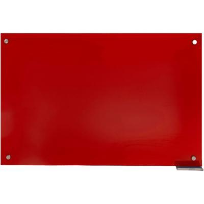 Pizarra de vidrio muro roja 120x80cm