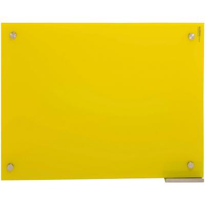 Pizarra de vidrio muro amarilla 50x70cm