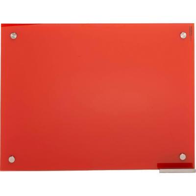 Pizarra de vidrio muro roja 100x70cm