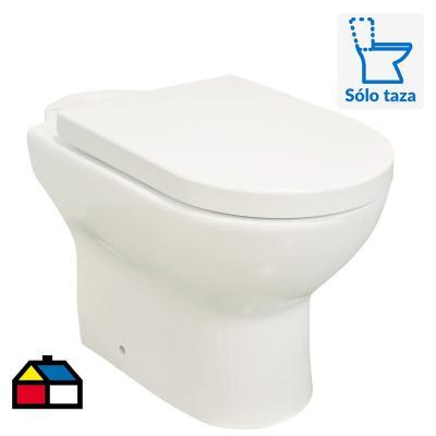 Taza WC con asiento, fijaciones y manguito