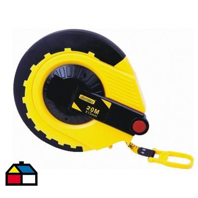Huincha PVC negro/amarillo 20 m