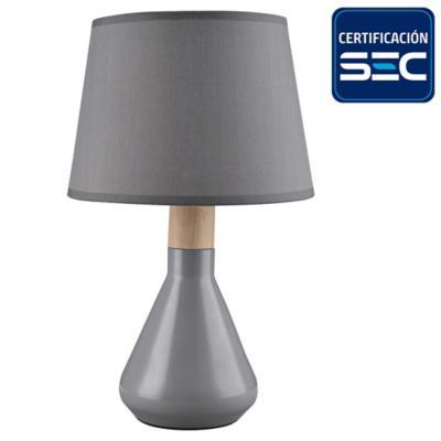 Lámpara de mesa Harlow 1 l E14 gris