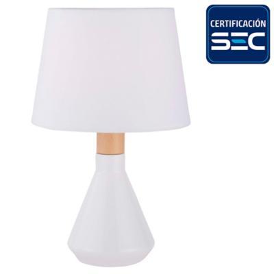 Lámpara de mesa Harlow 1 l E14 blanca
