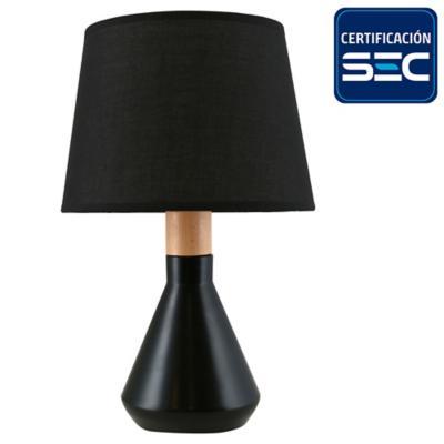 Lámpara de mesa Harlow 1 l E14 negra