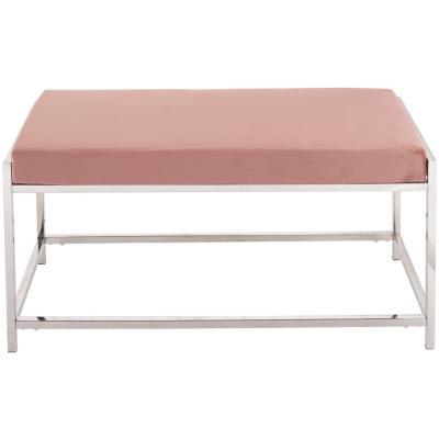 Banqueta 97x44x46 cm rosa