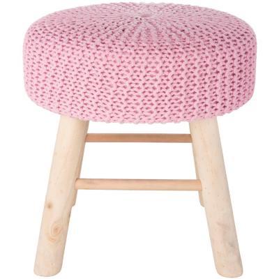 Piso madera tejido 42x42 cm rosa