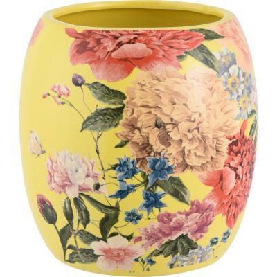 Macetero amarillo flores 15,5 cm