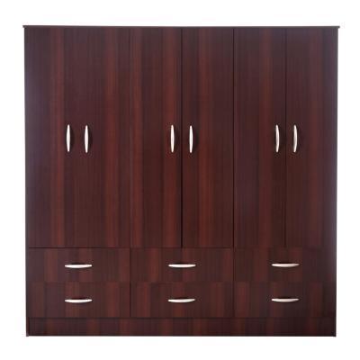 Clóset 6 cajones 6 puertas Chocolate