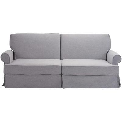 Futón 215x93x89 cm gris