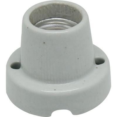 Portalámpara cerámica base recta blanco