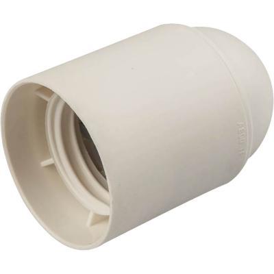 Portalámpara plástico bornera blanco