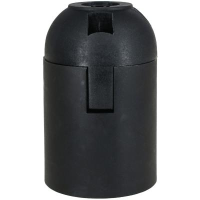 Portalámpara plástico bornera negro