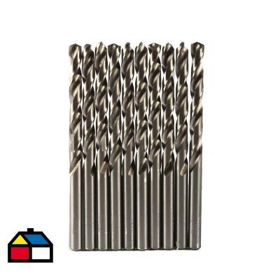Broca para metal hss 7 mm 10 un