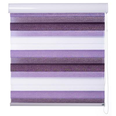 Cortina enrollable duo Angora 240x180 cm morada