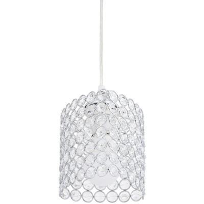 Lámpara de colgar Vidrio y metal Ovar Transparente