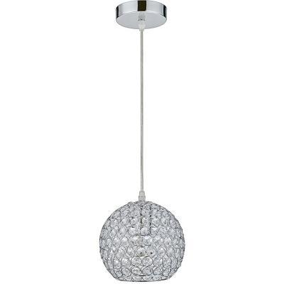 Lámpara de colgar Vidrio y metal Almada Transparente