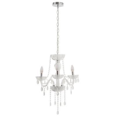 Lámpara de colgar Vidrio y metal Auriga Blanca