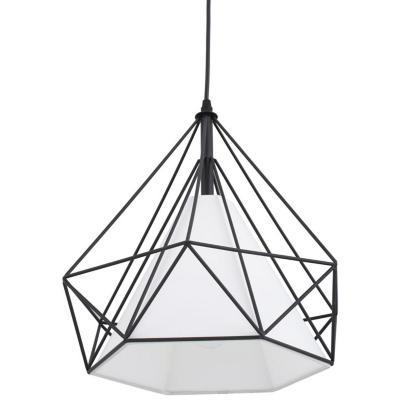 Lámpara de colgar Vidrio y metal Olhao Negro