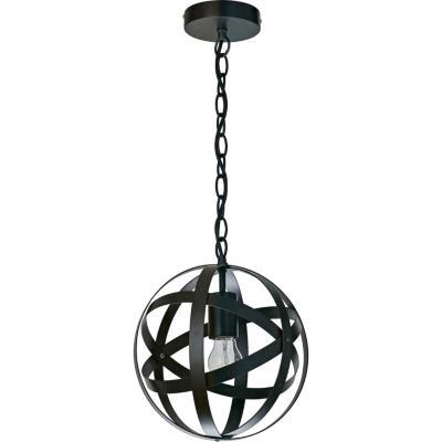 Lámpara de colgar Metal Serpa Negro