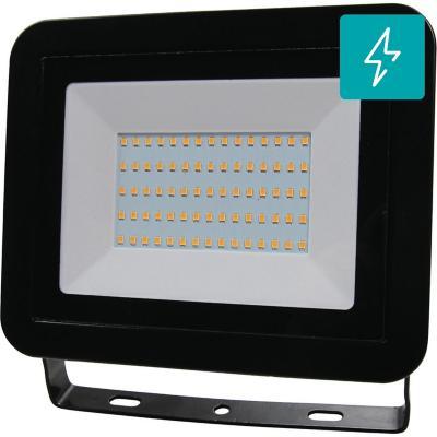 Reflector led plano 50 W luz fría negro