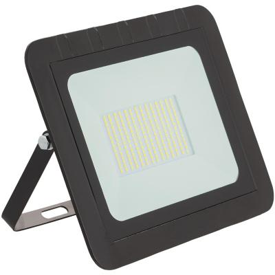 Reflector led plano 100 W luz fría negro