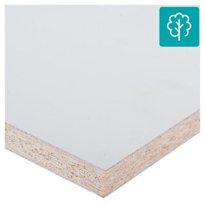 Repisa melamina 20x80 cm blanco ADS