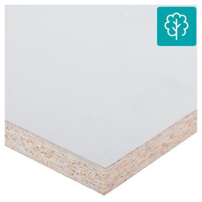 Repisa melamina 20x100 cm blanco ADS