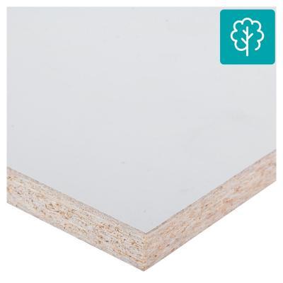 Repisa melamina 20x120 cm blanco ADS