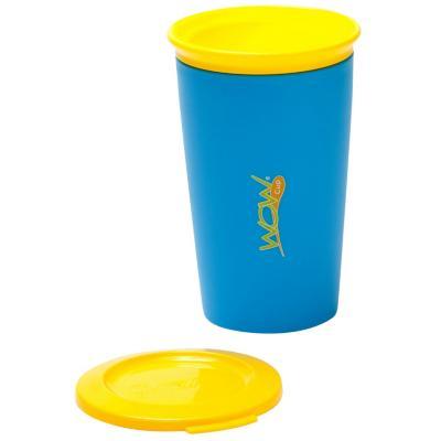 Pack de 2 vasos antiderrame niño azul/naranjo