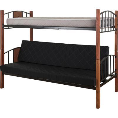 Camarote futón 1 plaza Negro