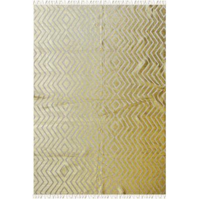 Alfombra kelim fancy 160x230 cm dorado