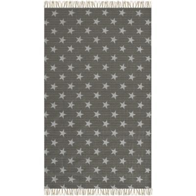 Bajada de cama kelim star 60x110 cm gris