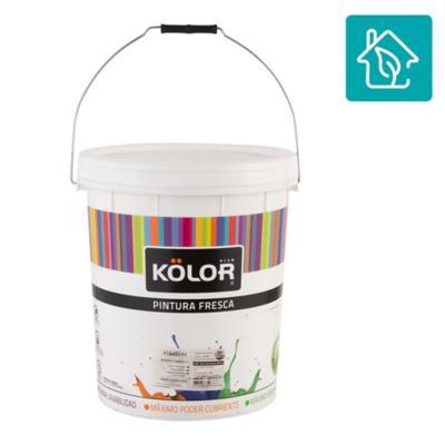 Esmalte al agua uso interior terminacion satin blanco/base 5 galones estandar