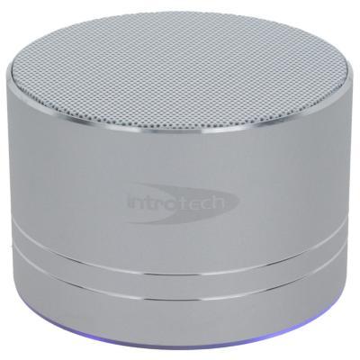 Parlante Bluetooth con luz plateado